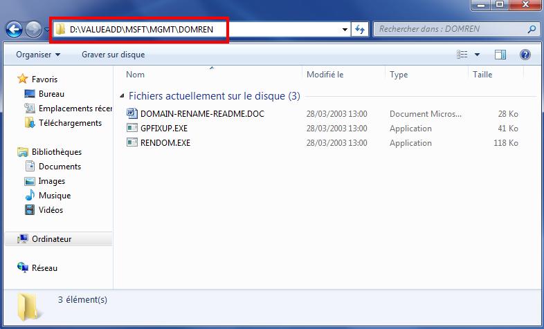 Fichiers Rendom
